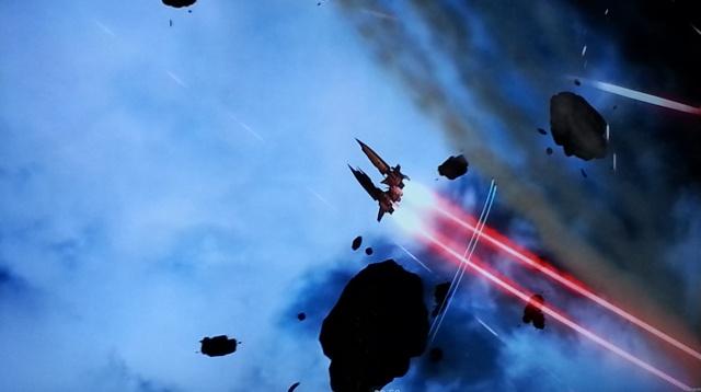 One of the Templar pilots pulls an Immelman